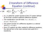 z transform of difference equation continue1