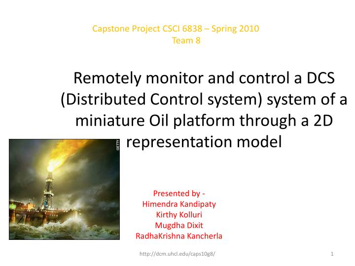 Capstone Project CSCI 6838 – Spring 2010