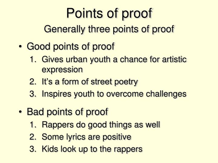 Points of proof