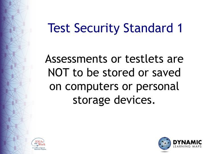 Test Security Standard 1