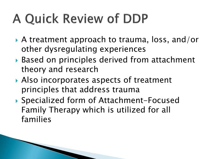 A Quick Review of DDP