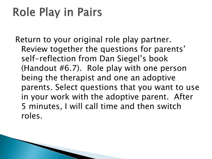 Role Play in Pairs