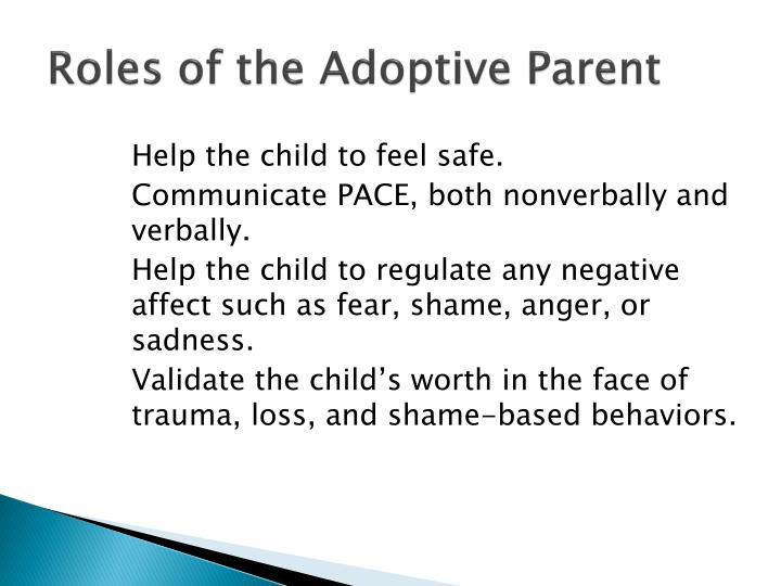 Roles of the Adoptive Parent