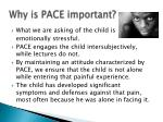 why is pace important