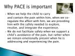 why pace is important