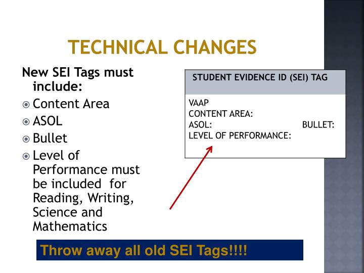 Technical Changes