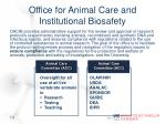 office for animal care and institutional biosafety