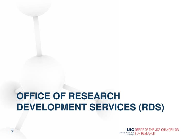 Office of Research Development Services (RDS)