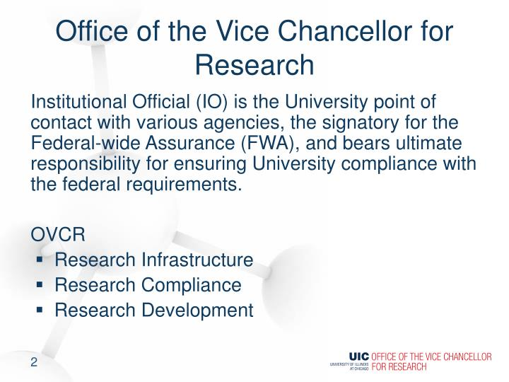 Office of the vice chancellor for research
