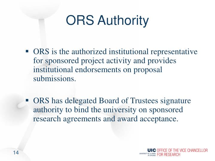 ORS Authority