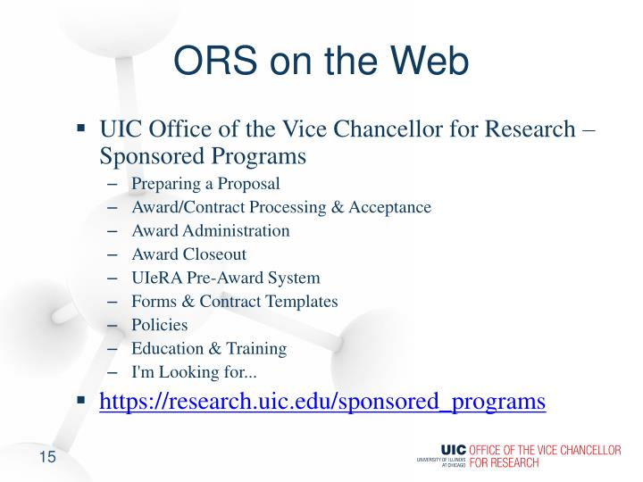 ORS on the Web