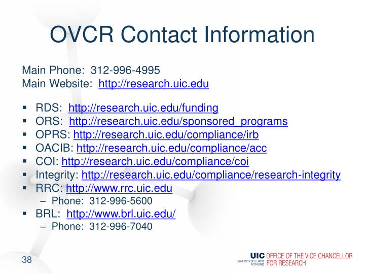 OVCR Contact Information