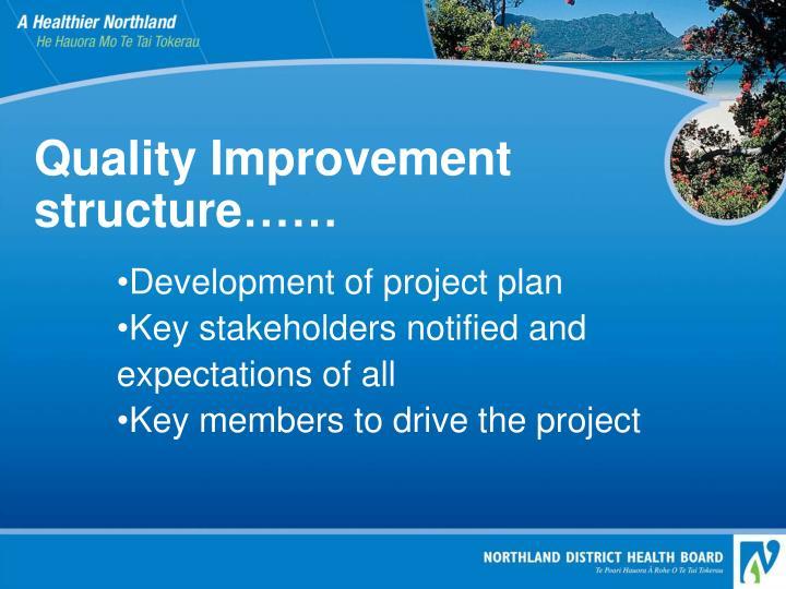 Quality Improvement structure……