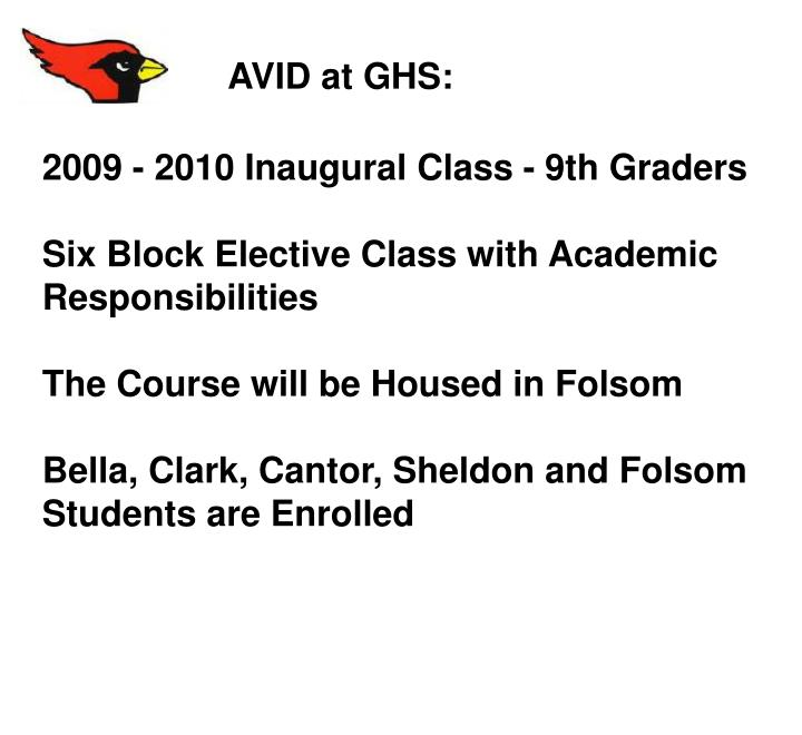 AVID at GHS: