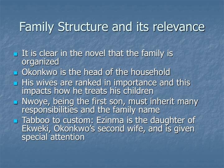 Family Structure and its relevance