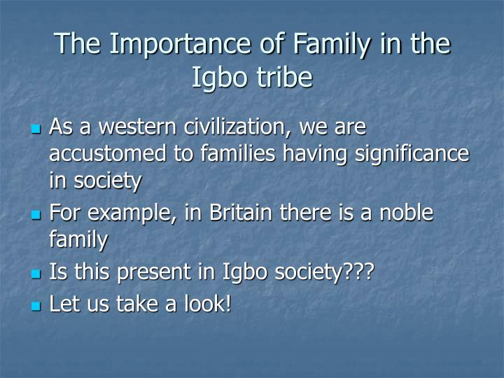 The importance of family in the igbo tribe