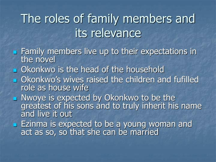 The roles of family members and its relevance