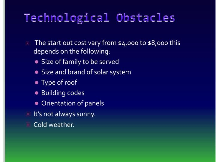 Technological Obstacles