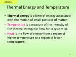 thermal energy and temperature
