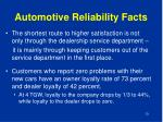 automotive reliability facts