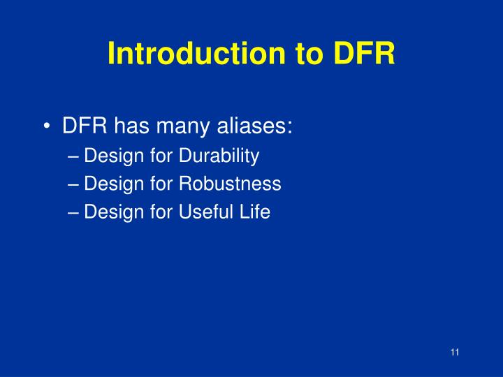 Introduction to DFR