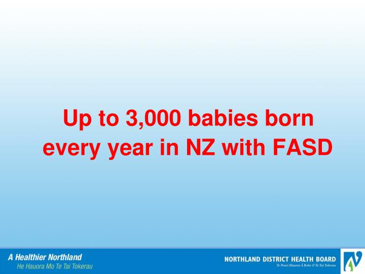 Up to 3,000 babies born every year in NZ with FASD