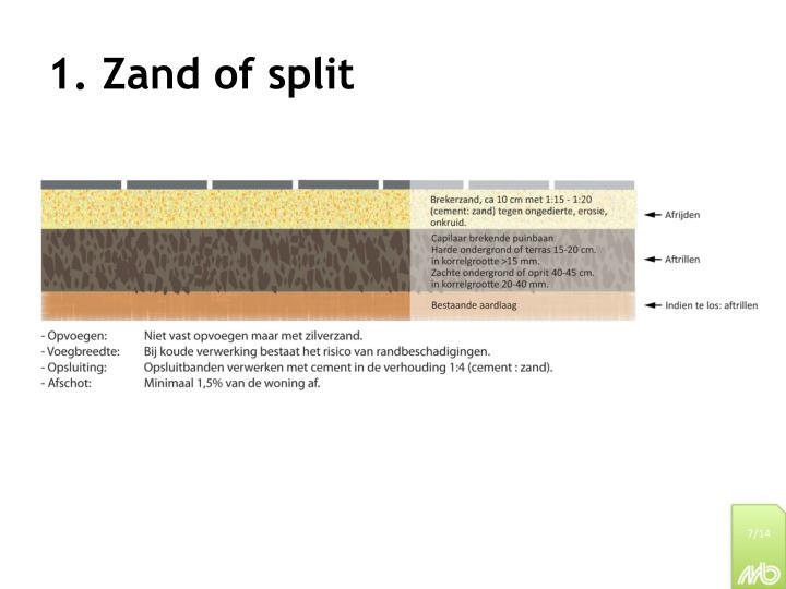 1. Zand of split