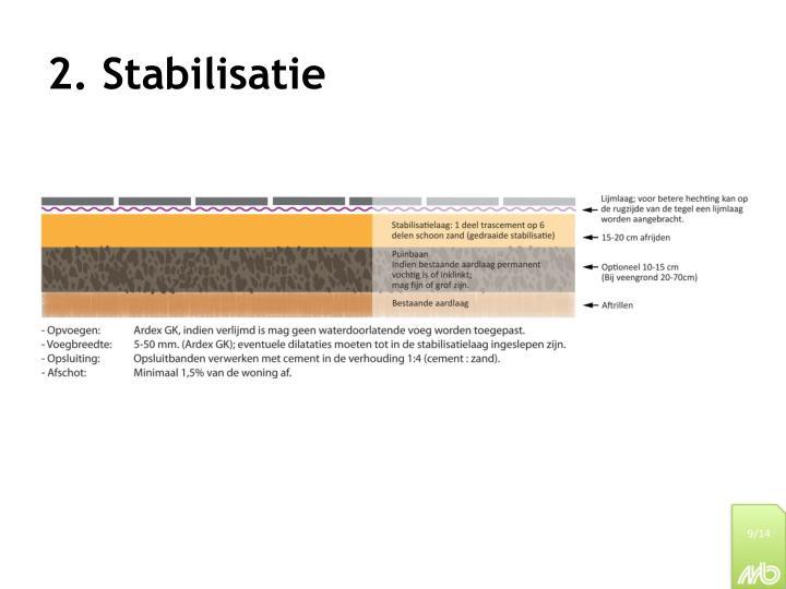 2. Stabilisatie