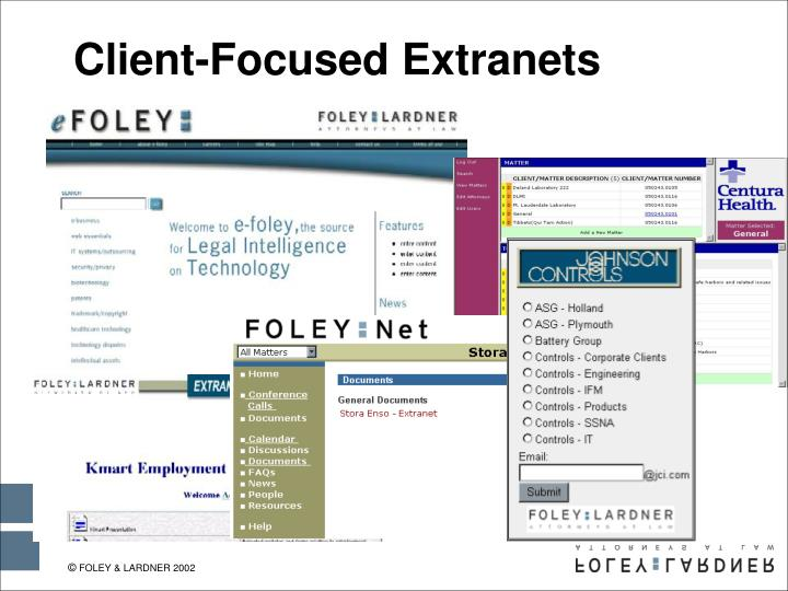 Client-Focused Extranets
