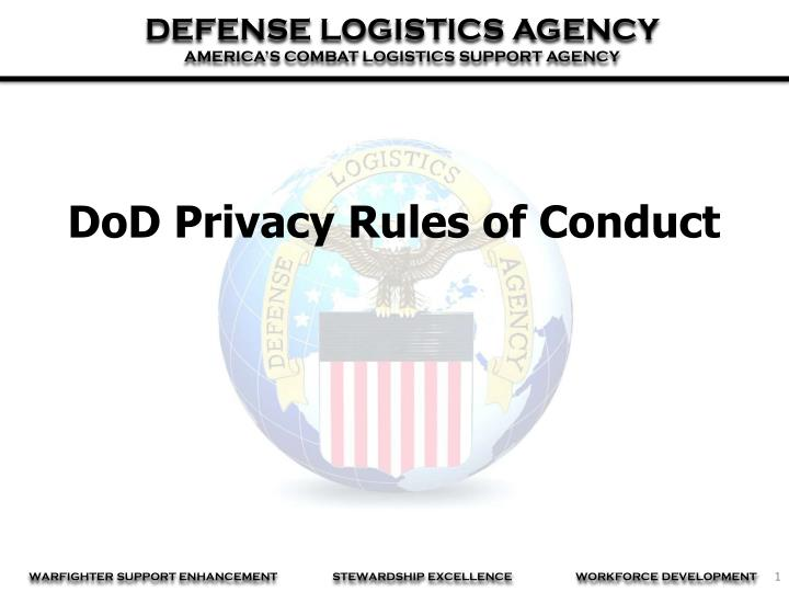 DoD Privacy Rules of Conduct