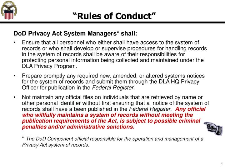 DoD Privacy Act System Managers* shall: