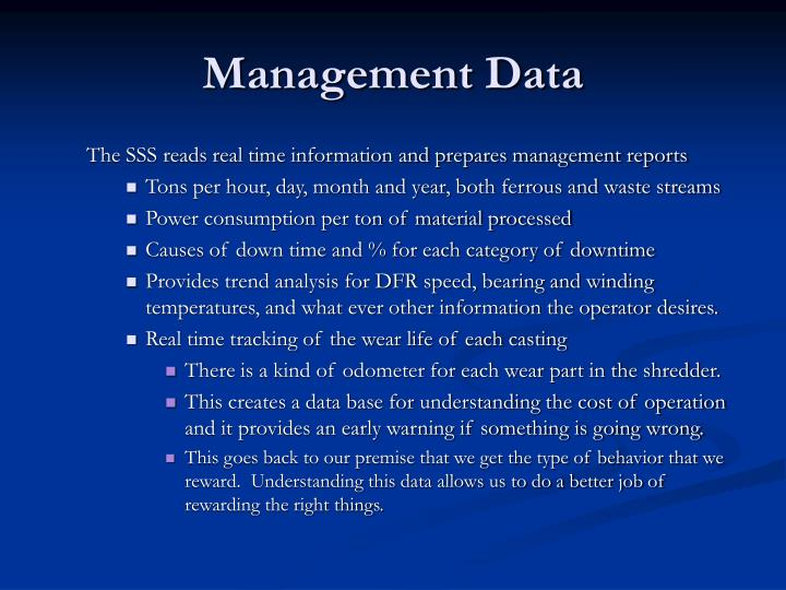Management Data