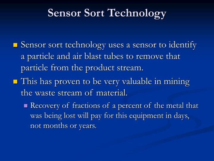 Sensor Sort Technology
