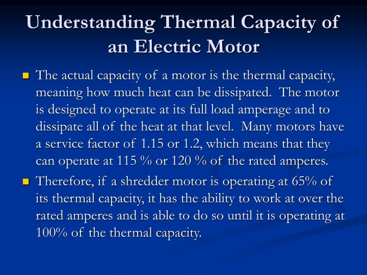 Understanding Thermal Capacity of an Electric Motor