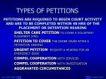 types of petitions