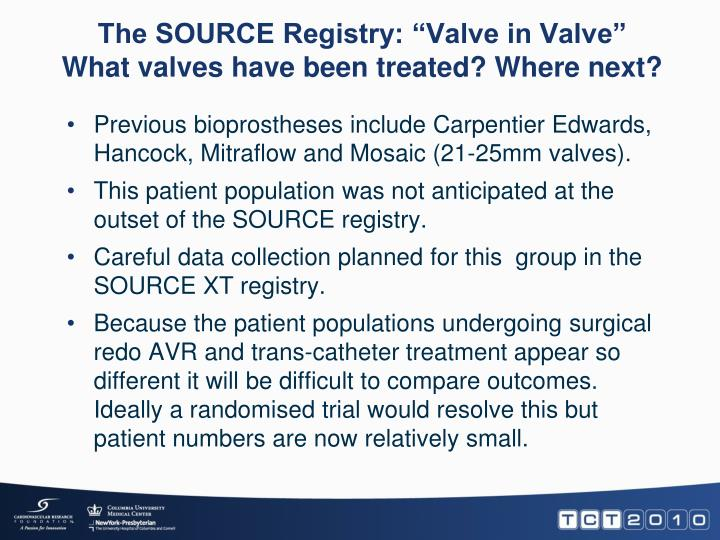 "The SOURCE Registry: ""Valve in Valve"""