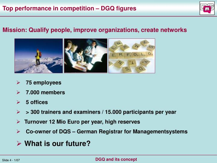 Top performance in competition – DGQ figures