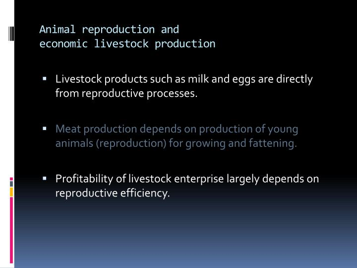 Animal reproduction and