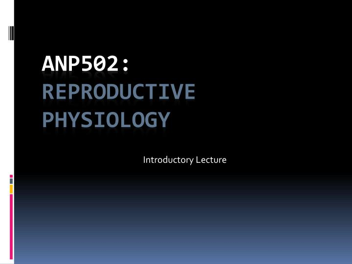 introductory lecture