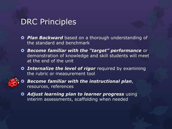 DRC Principles