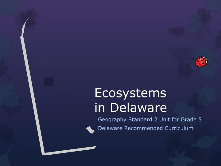 ecosystems in delaware