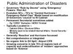 public administration of disasters