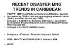 recent disaster mng trends in caribbean