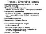 trends emerging issues