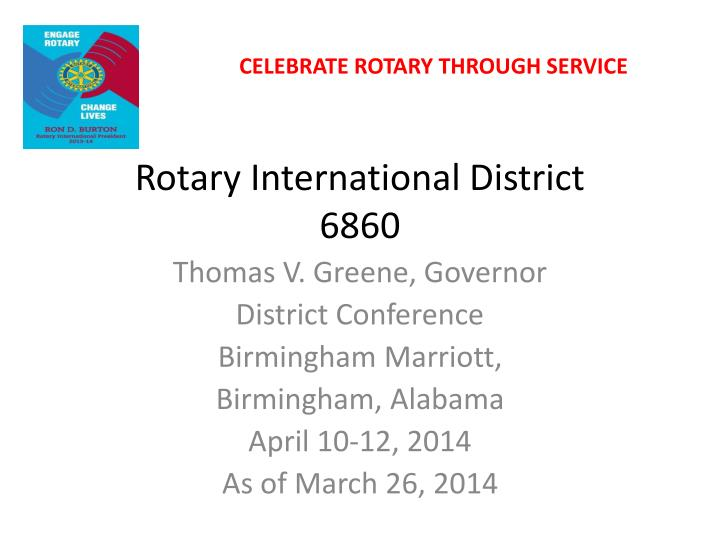 Rotary international district 6860