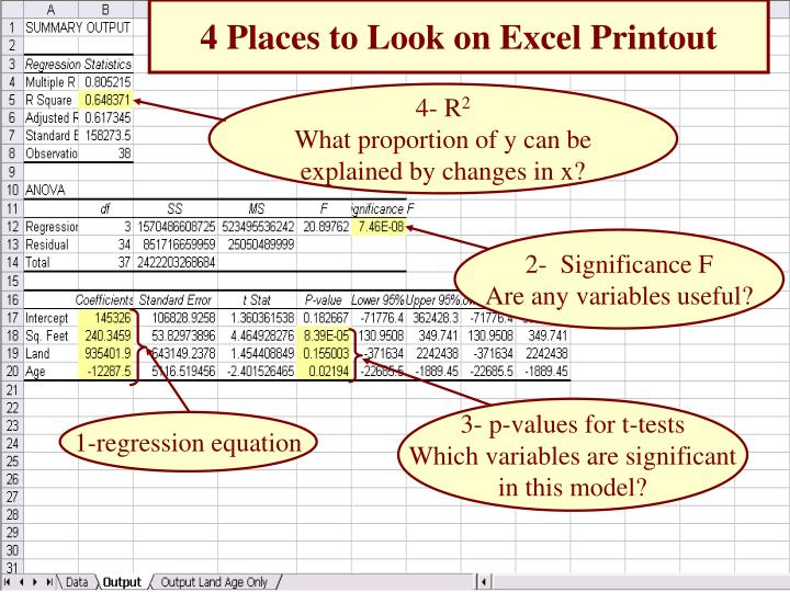 4 Places to Look on Excel Printout