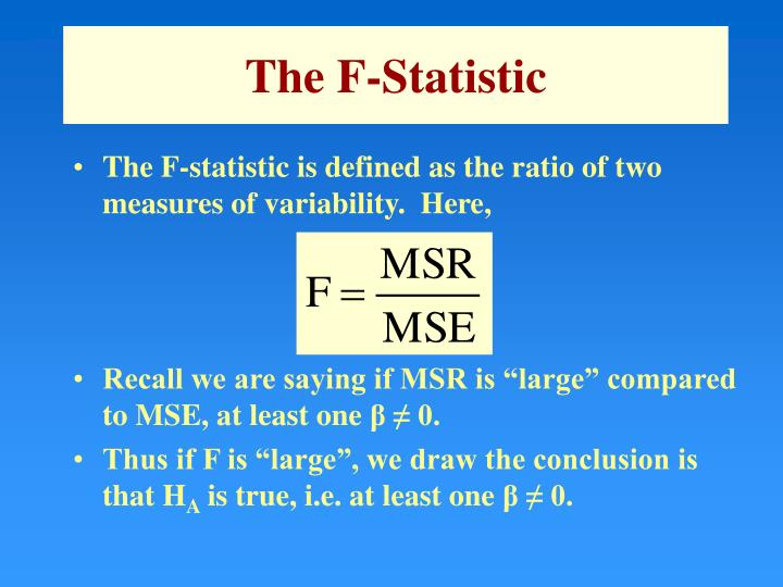 The F-Statistic