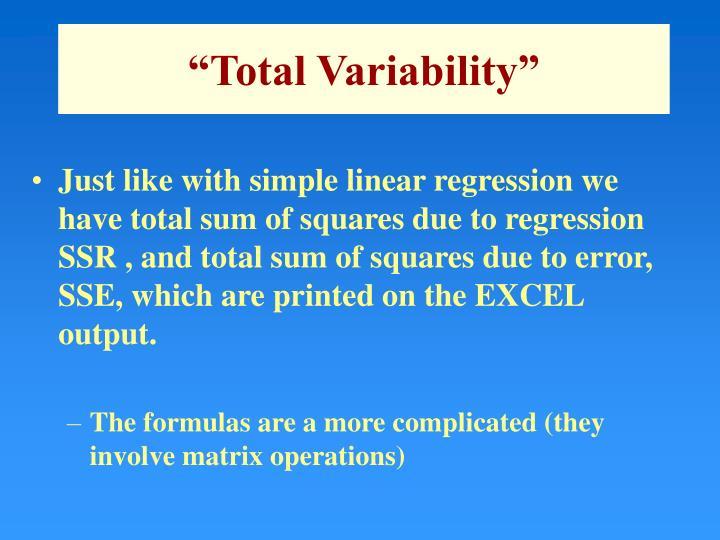 """Total Variability"""