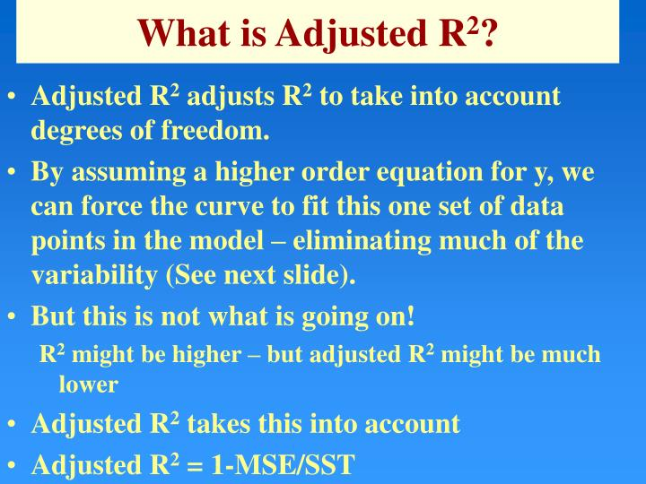 What is Adjusted R