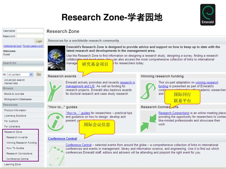 Research Zone-